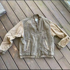 Vintage TravelSmith Suede Baseball Jacket
